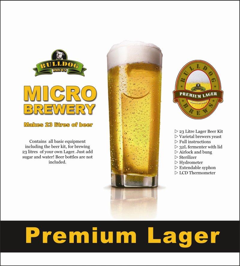 Bulldog Brews Complete Micro Brewery - Premium Lager