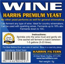 Harris Premium Wine Yeast (sachet)