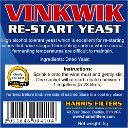 Harris Vinkwik Restart Yeast (sachet)