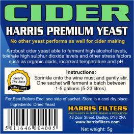 Harris Premium Cider Yeast (sachet)