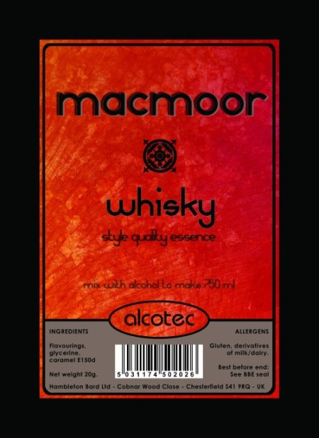 Alcotec Essences for 750ml - AT MacMoor Whisky