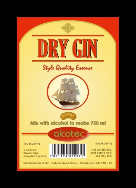 Alcotec Essences for 750ml - AT Dry London Gin